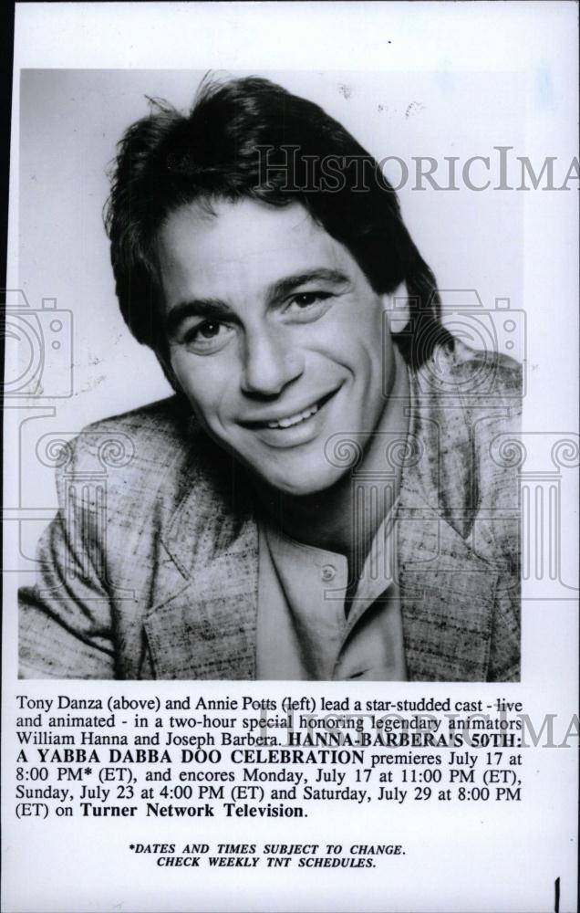1993 Press Photo Tony Danza Annie Potts star William Hanna Joseph Barbera
