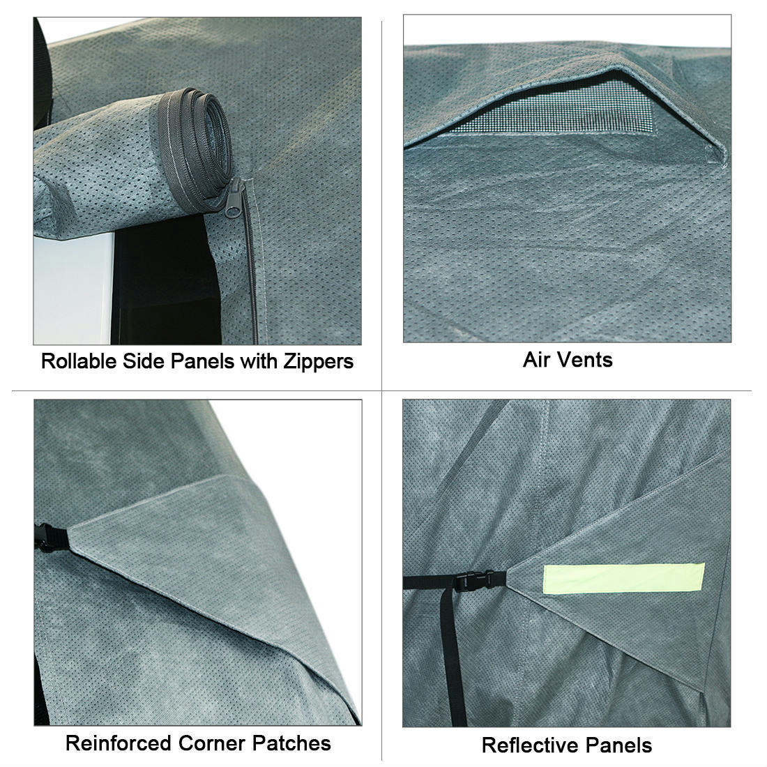 Kingbird 27/'-30/' Extra-thick 4-Ply Camper Travel Trailer RV Cover /& 4 Tire Cover