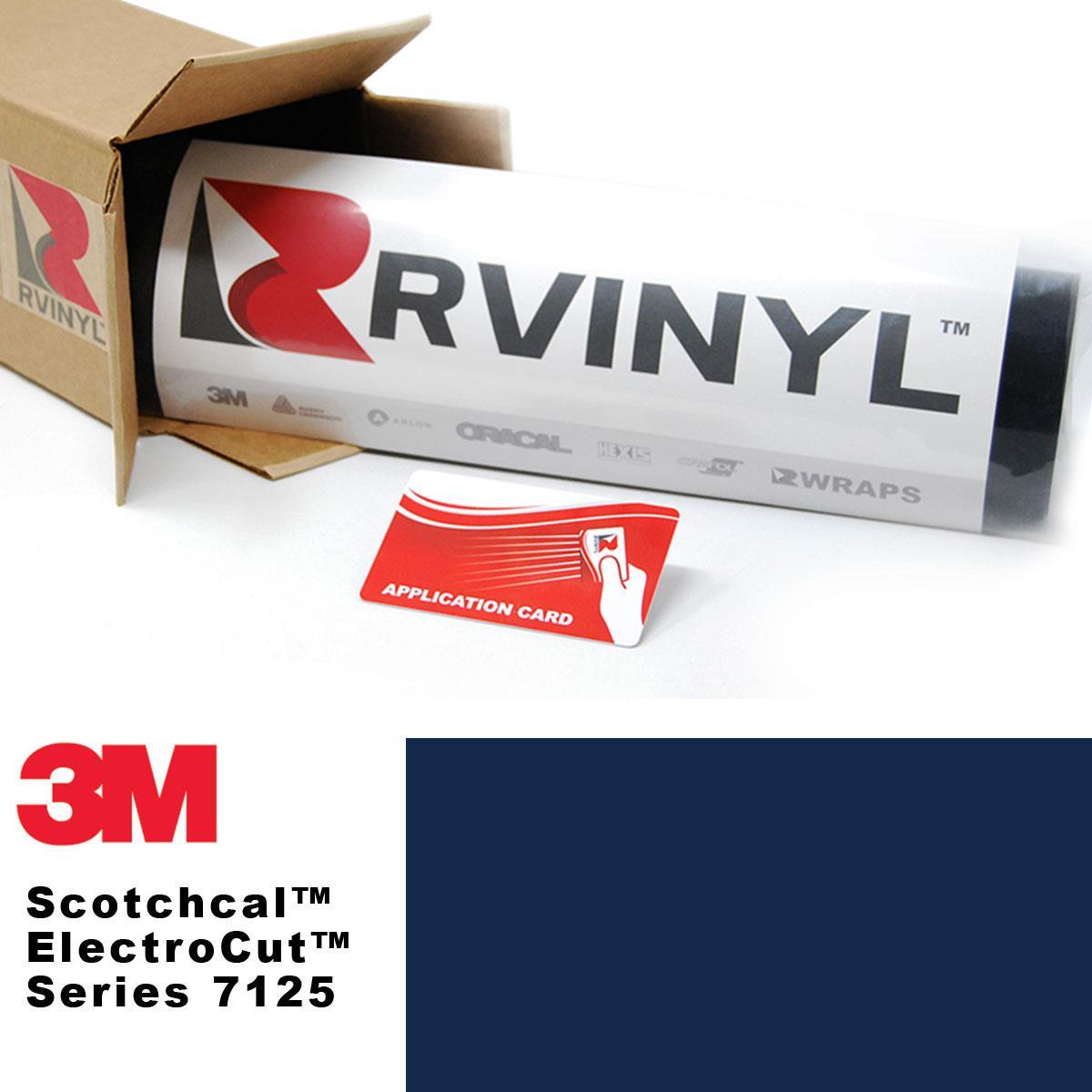 3M 7125 Scotchcal Indigo 27 Vinyl Film Sign Craft Hobby Decal Sheet Roll