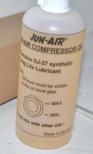 Jun Air SJ 27 Oil http://www.ebay.com/itm/JUN-AIR-GENUINE-SJ-27-SYNTHETIC-LONG-LIFE-LUBRICANT-/400233175877