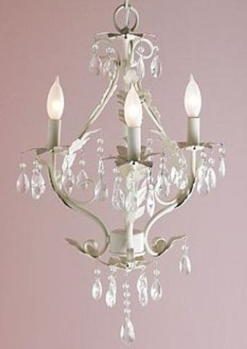 pottery barn kids 8452765 white ella chandelier new ebay. Black Bedroom Furniture Sets. Home Design Ideas
