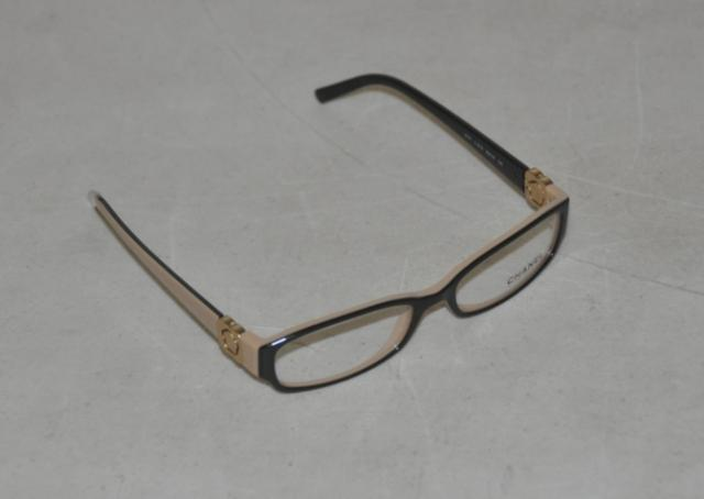 Chanel Womens Plastic Eyeglass Frames Black and Beige ...