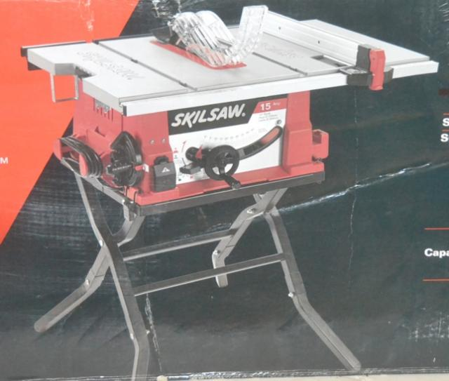 Skil 10 table saw with folding stand 3410 02 ebay for 10 skil table saw