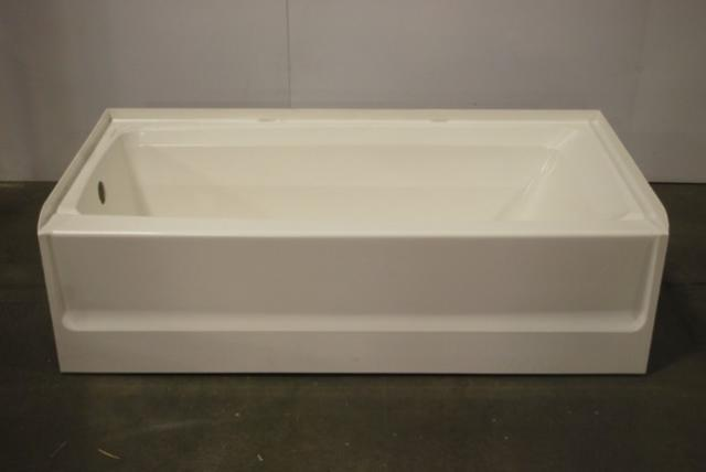Swan veritek three wall alcove installation bathtub left for Alcove bathtub definition