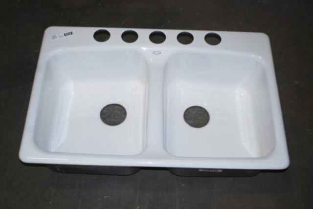 Kohler Brookfield Undermount Porcelain Enameled Cast Iron Kitchen Sink 5942-5U-0