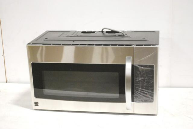 Kenmore 1 9 Cubic Ft Over The Range Microwave Hood