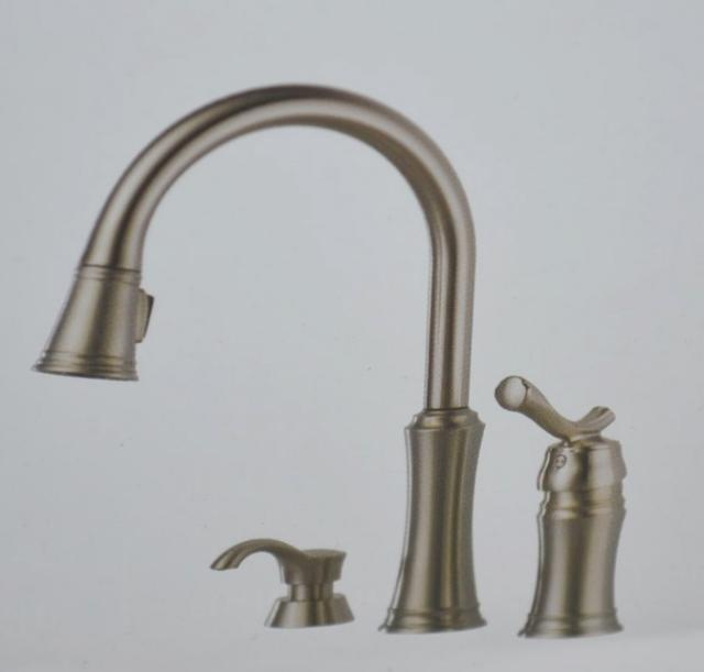 Delta Lakeview Stainless Pulldown Kitchen Faucet W Soap Dispenser 59963 Sssd Dst Ebay