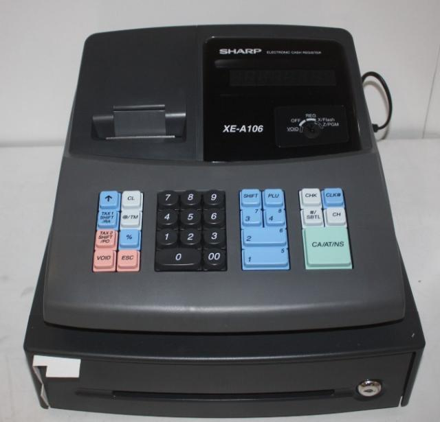 Sharp XE-A106 Thermal Printing Receipt Cash Register Electronic | eBay