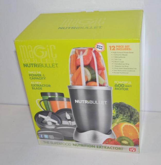 Magic bullet nutribullet 600 watt 12 piece blender system for Magic bullet motor watt