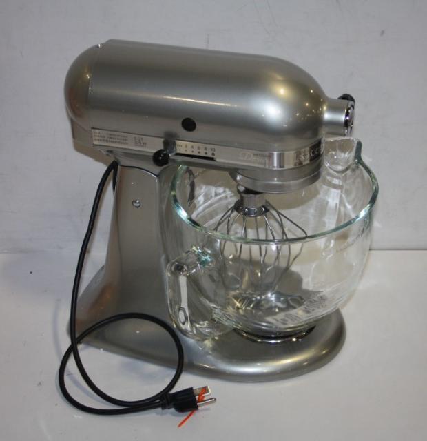 Kitchenaid Ksm155gbsr Sugar Pearl Silver 5 Quart Tilt Head