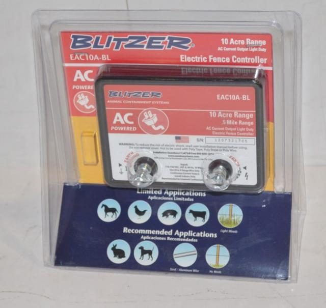 Blitzer Electric Fence Controller Eac10a Bl Ebay