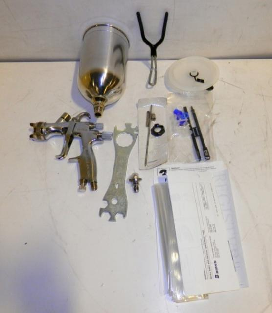 details about binks hvlp gravity feed paint spray gun 7042 6931 4. Black Bedroom Furniture Sets. Home Design Ideas
