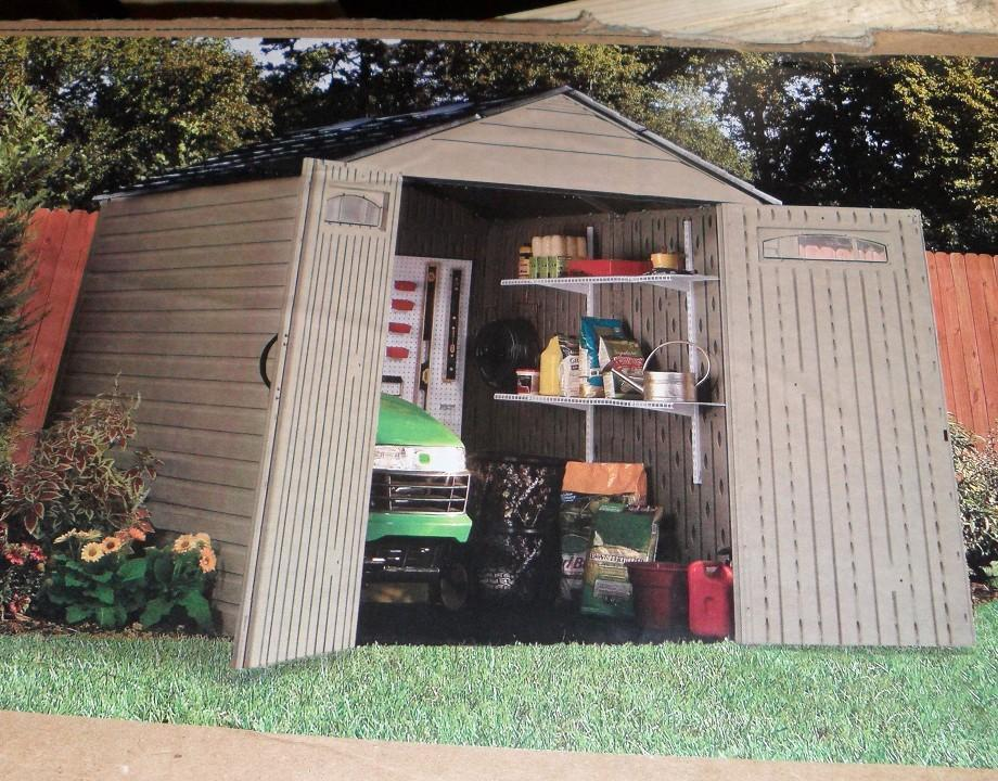 Rubbermaid Roughneck 7' x 7' Extra Large Outdoor Storage Shed 5H80
