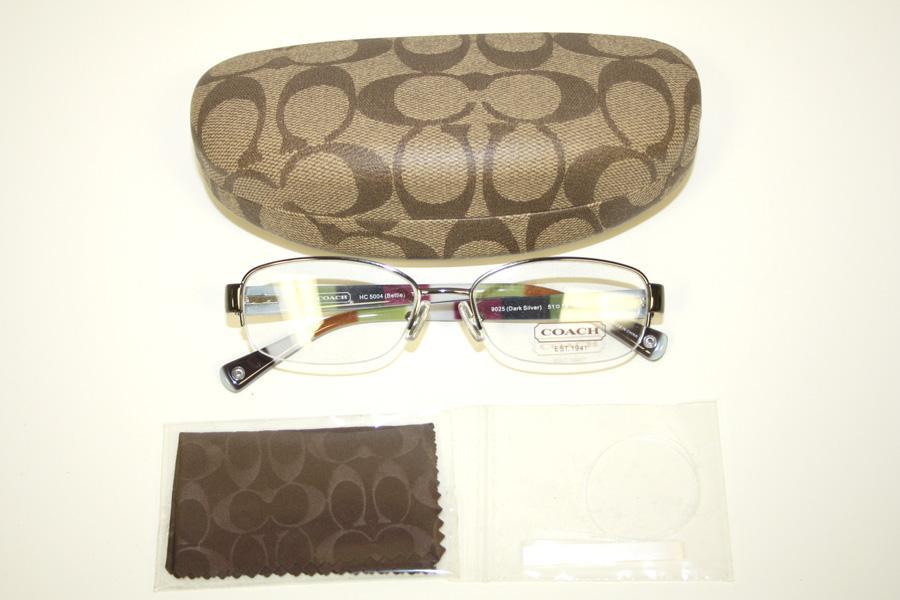 Coach Eyeglass Frames Bettie : Coach Bettie Dark Silver Striped Semi Rimless Womens ...