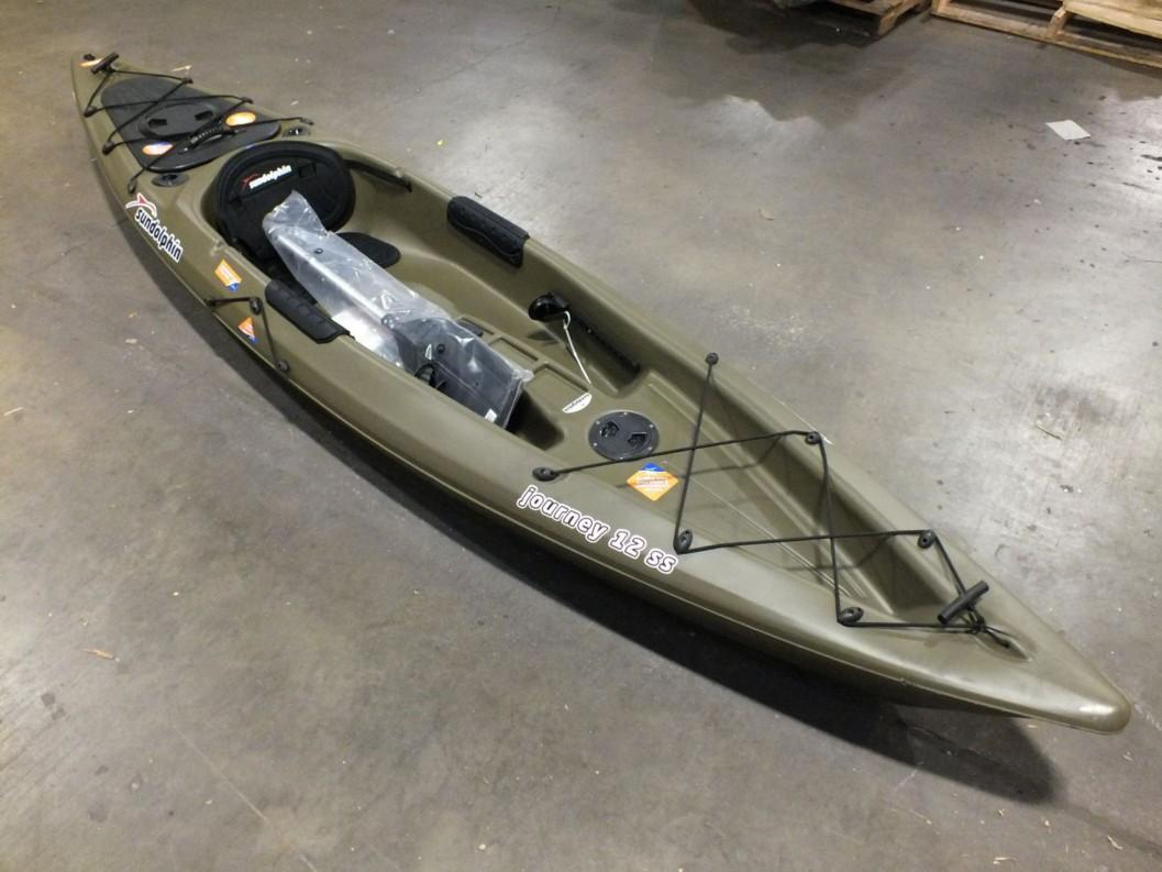 sun dolphin journey 12ss sit on fishing kayak green 12 ft