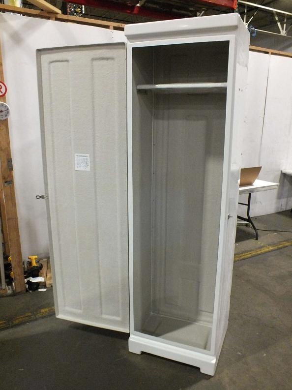 Dock Boxes Unlimited Single Door Fiberglass Outdoor Dry