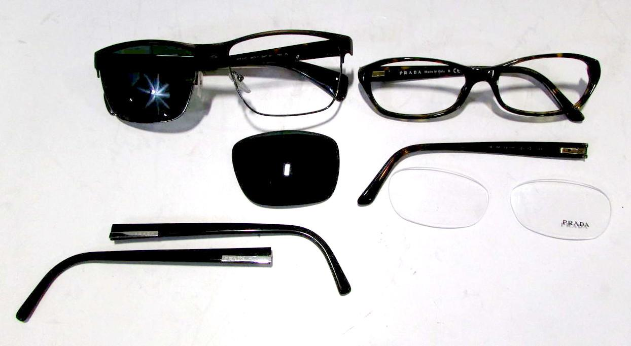 Prada Lot of Frames Eyewear Eyeglasses Sunglasses Parts ...