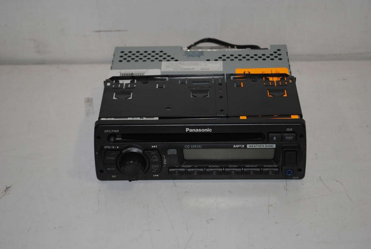 panasonic cq 5251ju mp3 cd player weather band receiver ebay. Black Bedroom Furniture Sets. Home Design Ideas