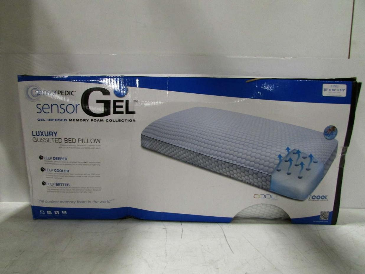 Sensorpedic 65017 Gel Infused Memory Foam King Gusseted