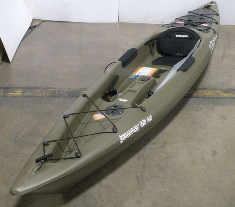 Sun Dolphin Journey 12 Sit On Fishing Kayak Green 12 Ft