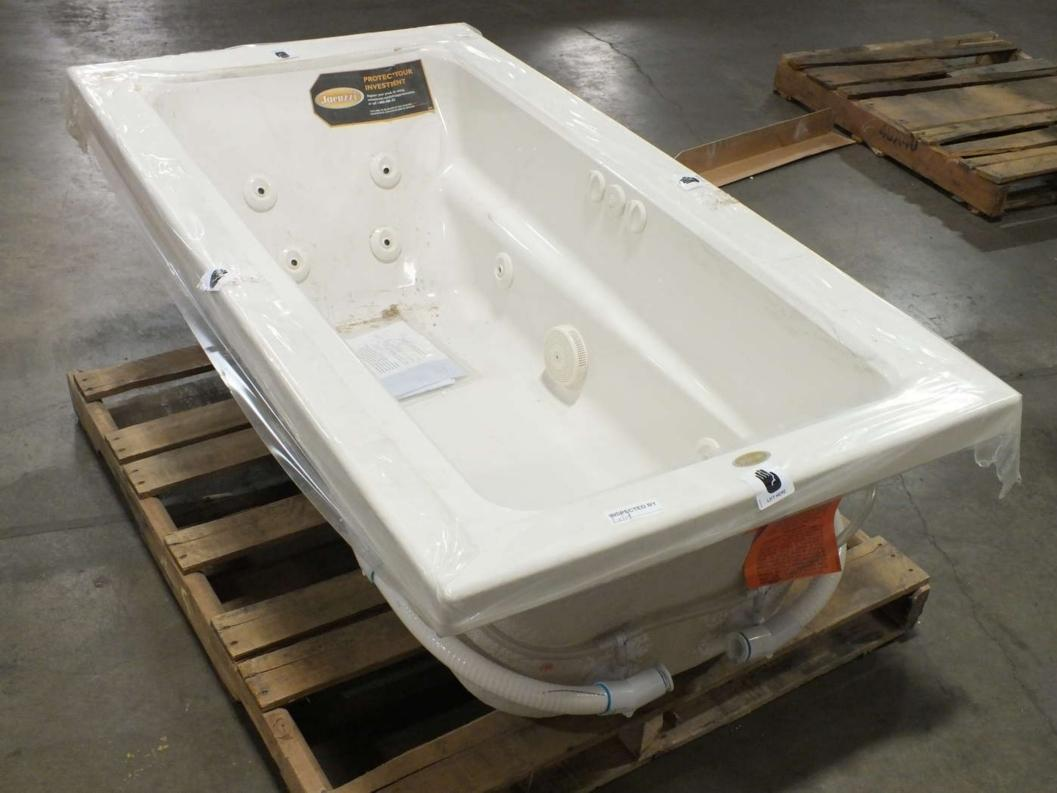 Jacuzzi primo 1 person oyster rectangular drop in for Drop in tub dimensions