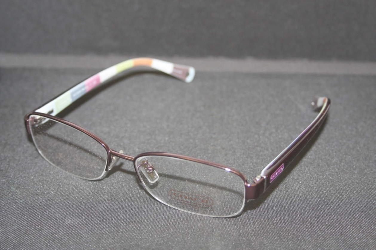 Coach Eyeglass Frames Bettie : Coach Bettie Purple Striped Semi Rimless Womens Frames ...