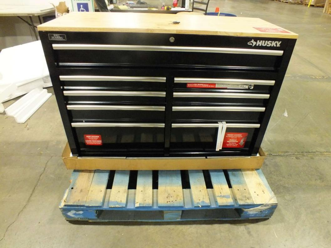 Husky 763 089 9 Drawer Mobile Workbench Ebay