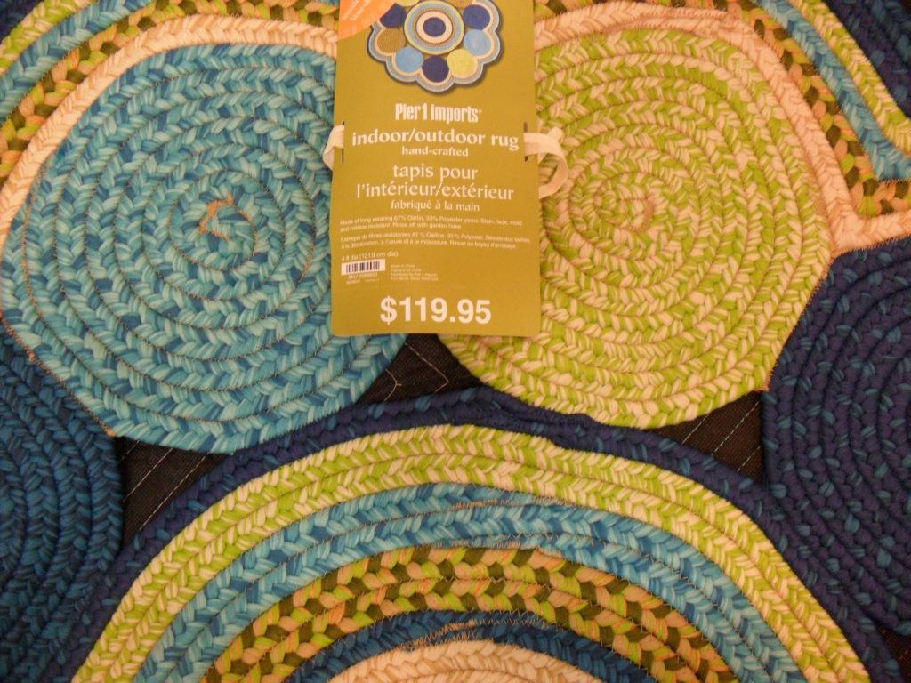 pier 1 imports 4 ft round indoor outdoor rug ebay