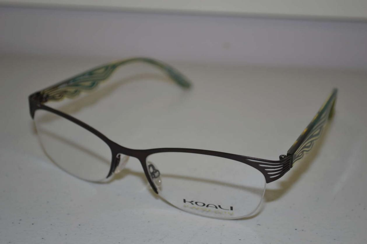 Koali Morel Semi Rimless Dark Brown & Green Frames ...