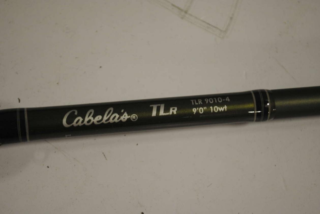 Cabela 39 s tlr 9010 4 fly fishing rod 4 piece 9 ft 10 for Cabela s fishing rods