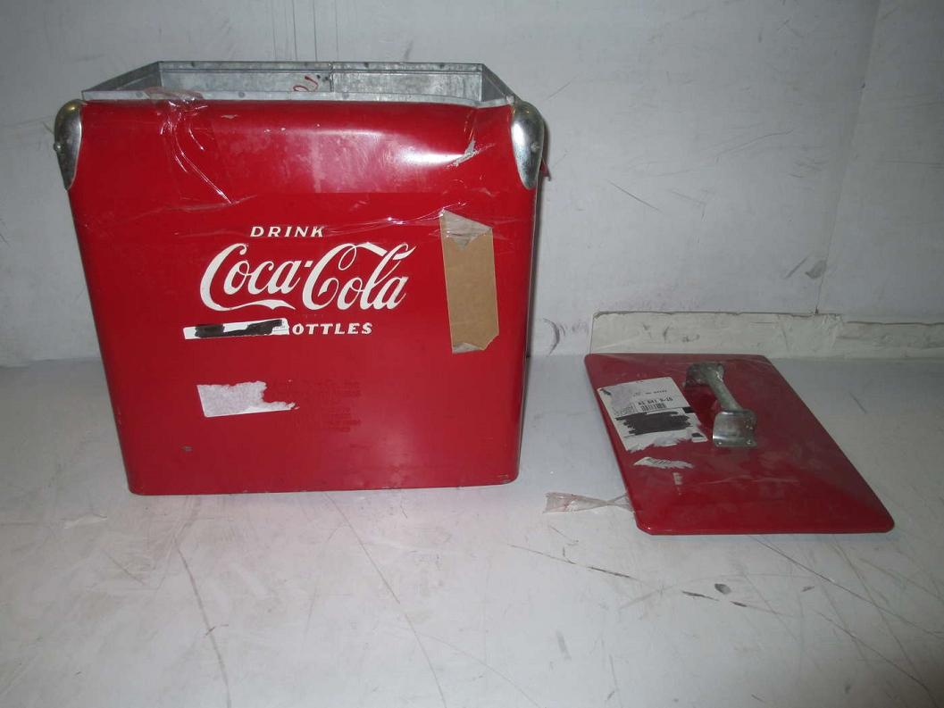 Vintage Drink Coca Cola In Bottles Cooler Ebay