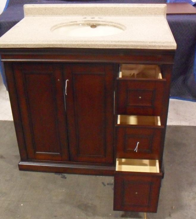 costco covington 36 inch bathroom vanity ebay. Black Bedroom Furniture Sets. Home Design Ideas