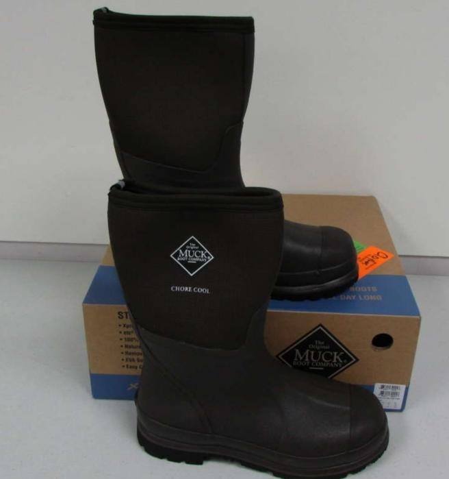 Elegant Muck Boots Chore Hi Waterproof Black Medium D Rubber Black Mens Women