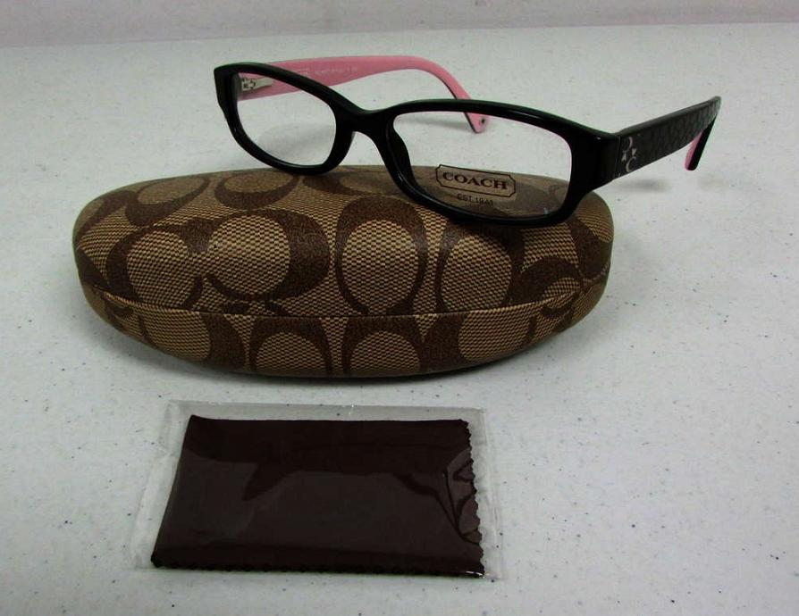coach emily black pink frames eyewear eyeglasses hc 6001
