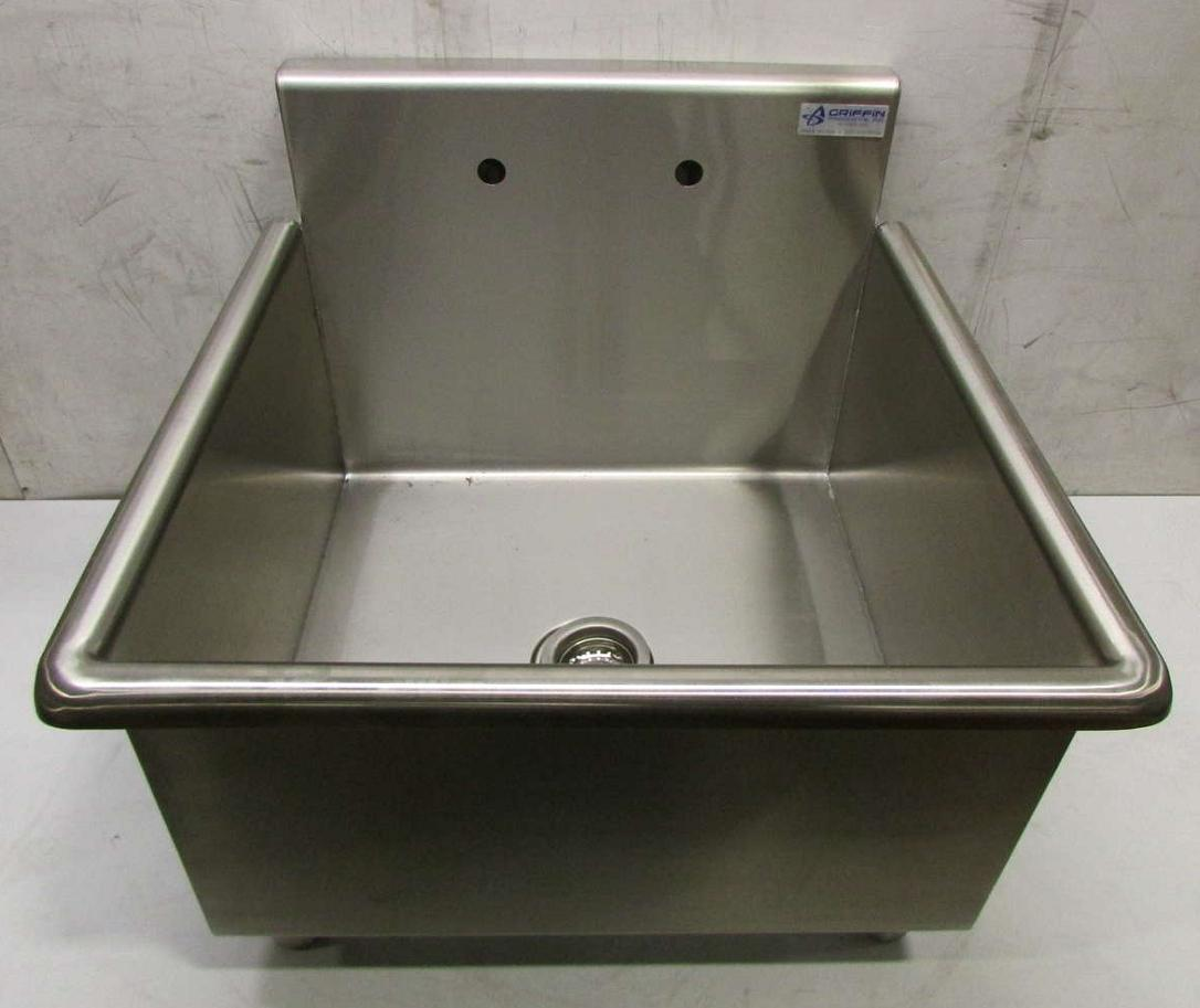 Utility Sink Stainless Steel Freestanding : ... Griffin Single Bowl Stainless Steel Free-Standing Utility Kitchen Sink