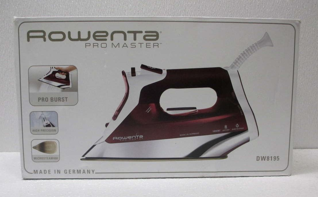 Rowenta DW8195 Pro Master Steam Iron 1800W With Platinium ...
