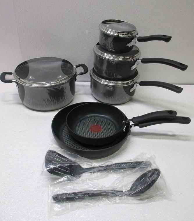 t fal e918sa ultimate hard anodized durable nonstick 12 piece cookware set ebay. Black Bedroom Furniture Sets. Home Design Ideas