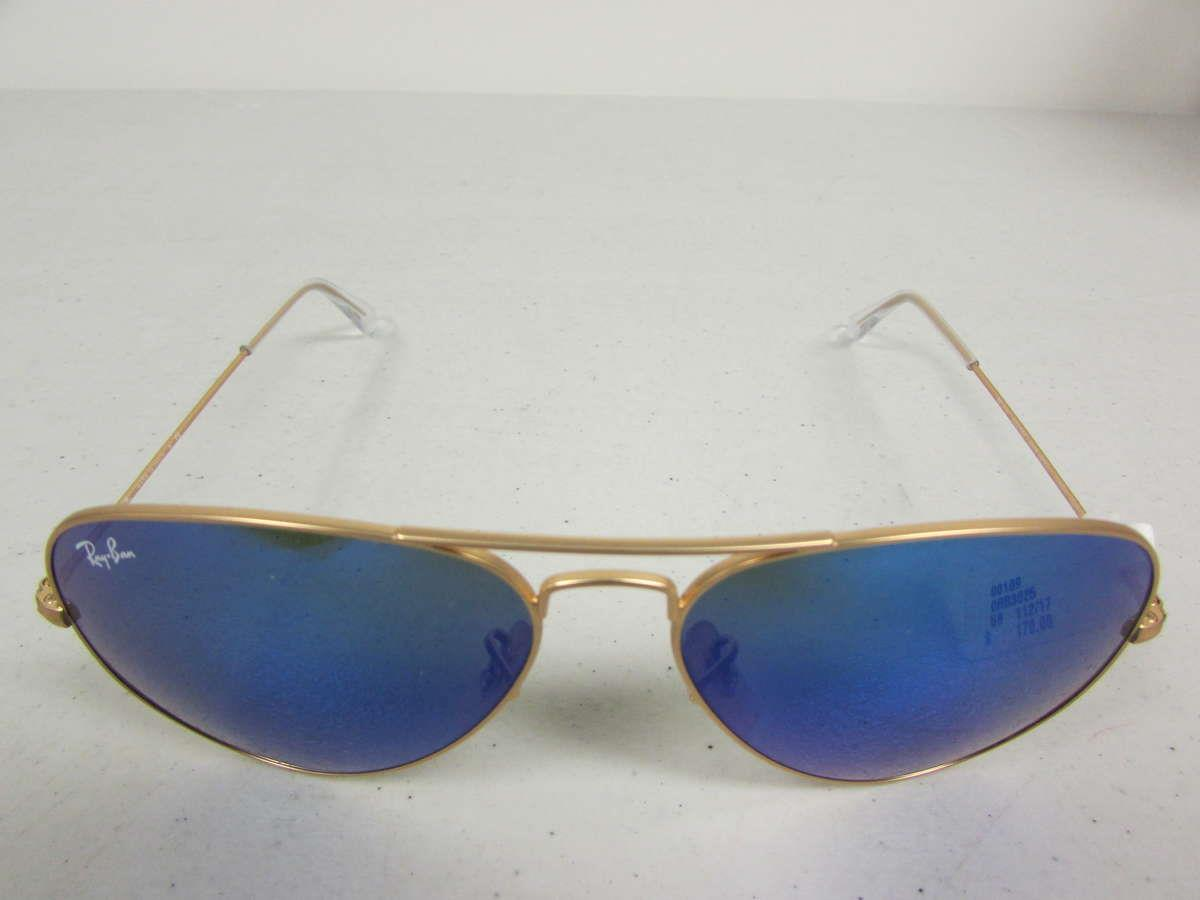 Aviator Sunglasses Gold Frame Crystal Blue Lens : ray ban lens aviator sunglasses crystal frame blue gold rb3025