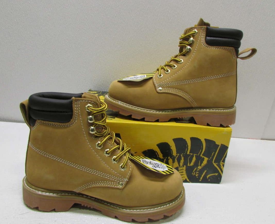 fuda s 7 5m wheat steel toe waterproof work boots 681s