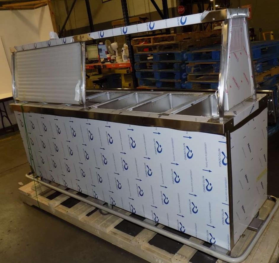 Duke ep 6 cbss 6 well portable electric steam table w glass sneeze guard - Sneeze guard for steam table ...