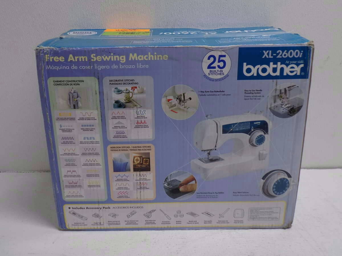 Brother xl 2600i free arm sewing machine 012502615200 ebay for Machine a coudre xl 2600 brother
