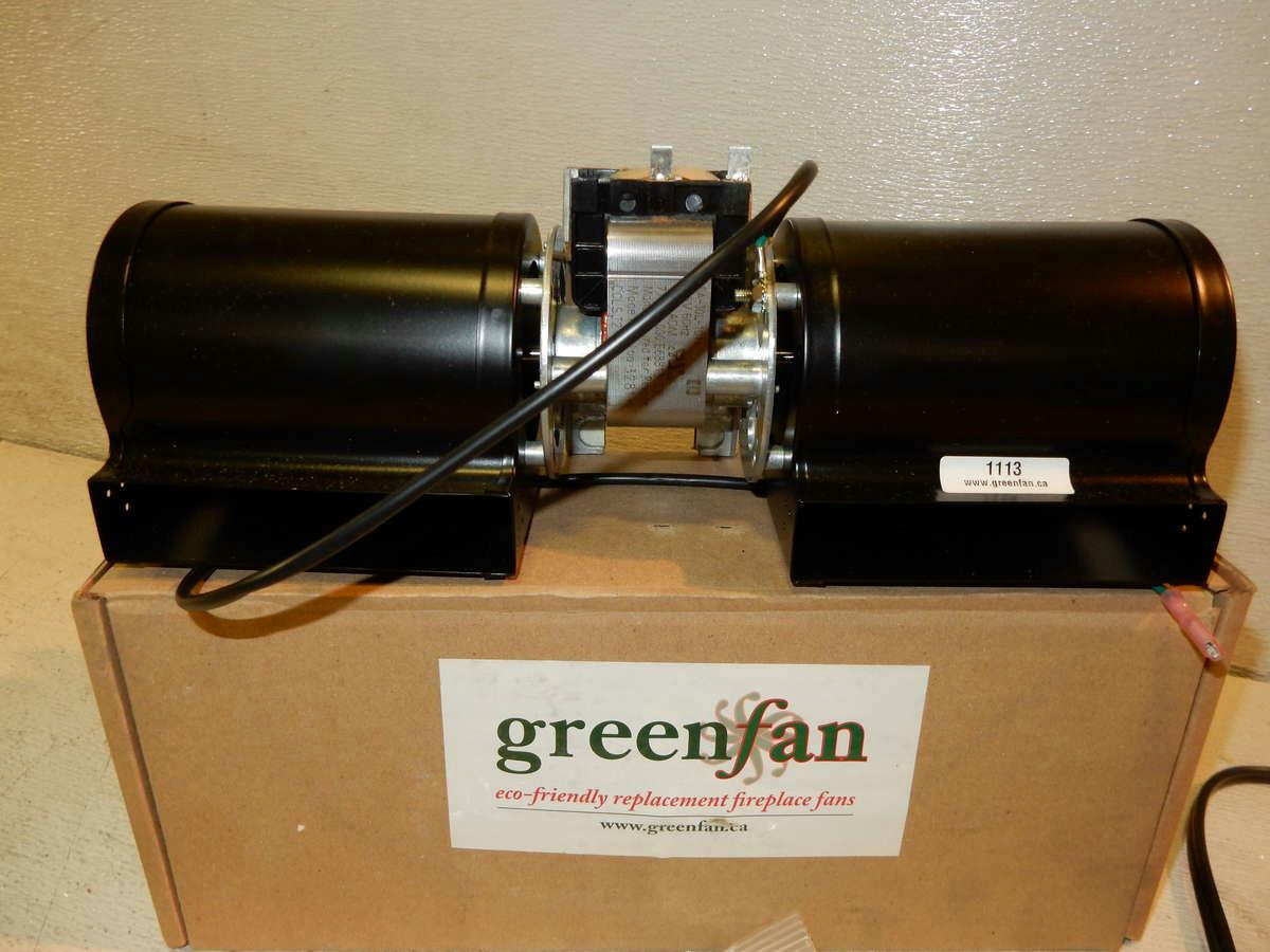 Greenfan Gf Dchg Dual Blower Kit For Heat N Glo Up Mount Quadrafire Fireplaces Ebay