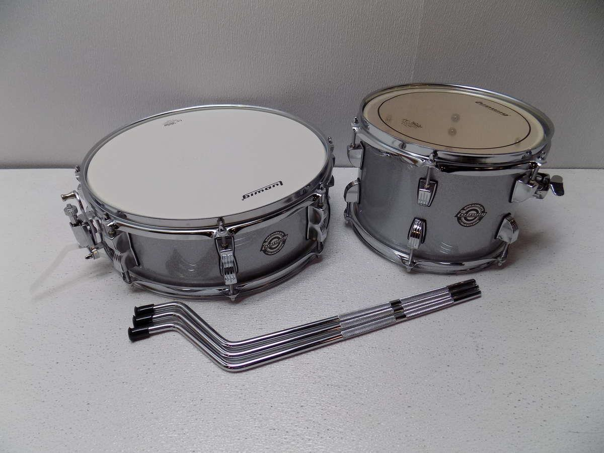 ludwig breakbeats by questlove 4 piece drum shell kit white sparkle ebay. Black Bedroom Furniture Sets. Home Design Ideas