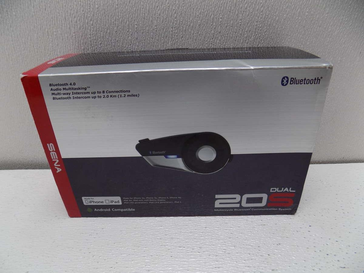 sena 20s bluetooth motorcycle headset dual pack ebay. Black Bedroom Furniture Sets. Home Design Ideas