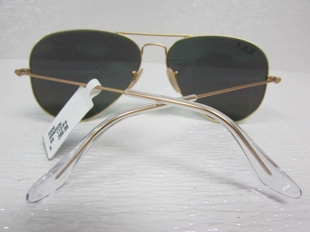 ray ban oversized aviator  ray-ban matte gold/green