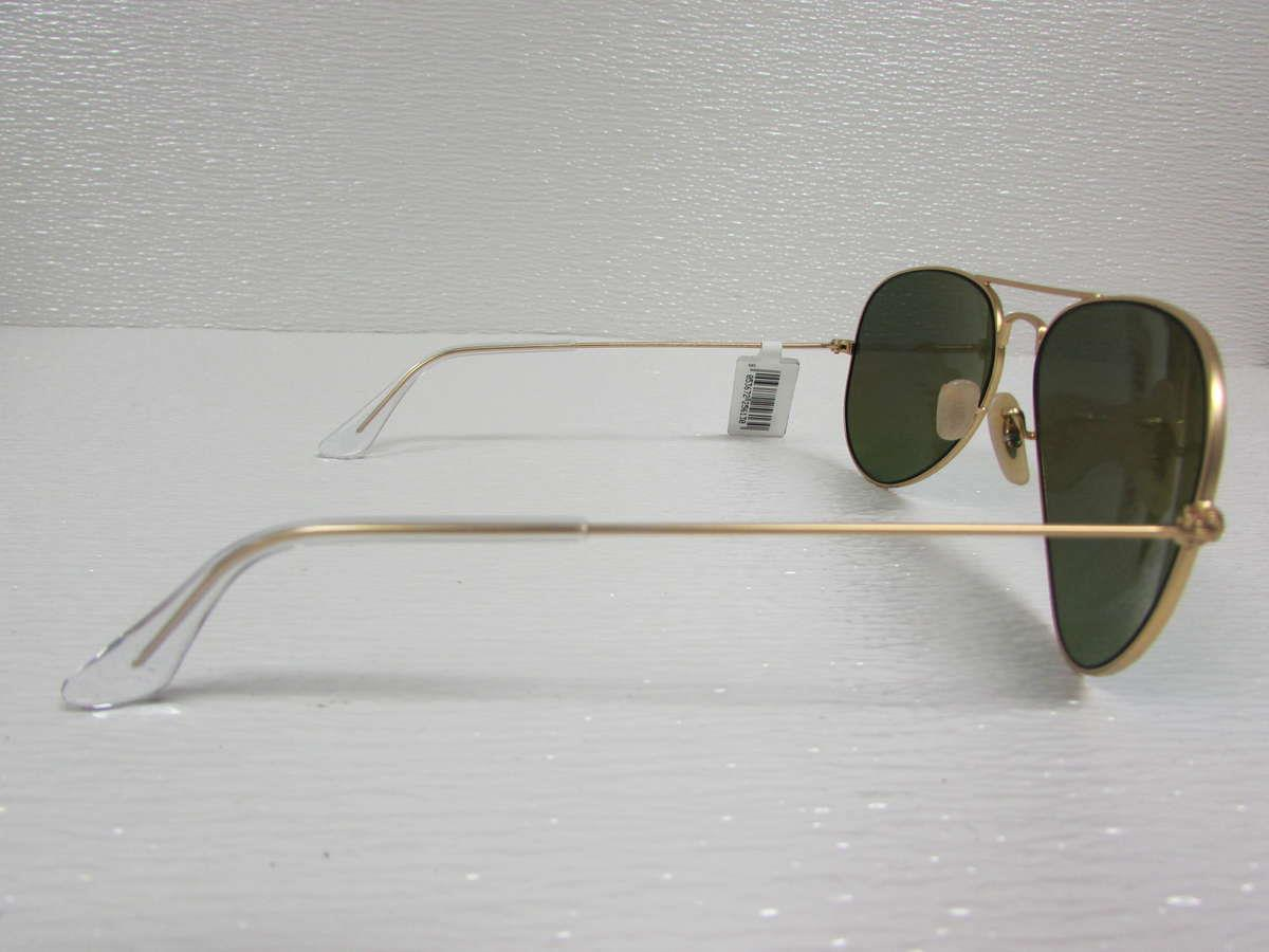aviator ray ban gold  ray-ban matte gold/green