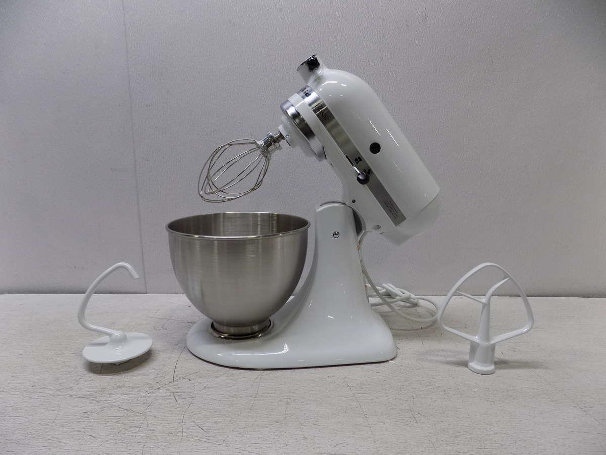 kitchenaid classic 4 5 quart tilt head stand mixer white k45sswh