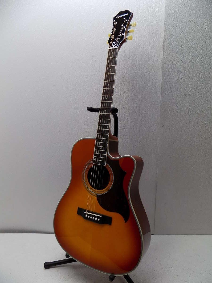epiphone ft 350sce acoustic electric guitar with automatic tuner ebay. Black Bedroom Furniture Sets. Home Design Ideas