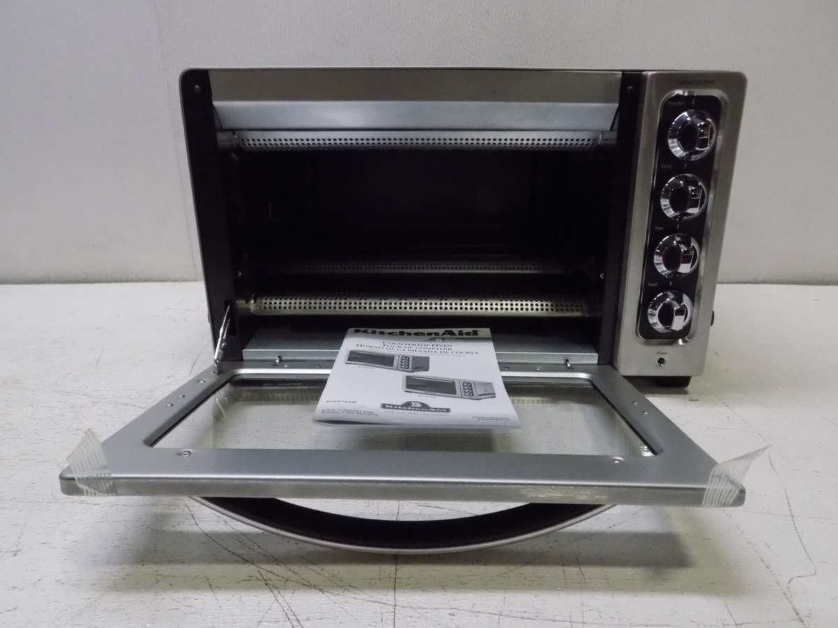 Kitchenaid 12 stainless steel countertop toaster oven kco223cu ebay for Toaster oven stainless steel interior