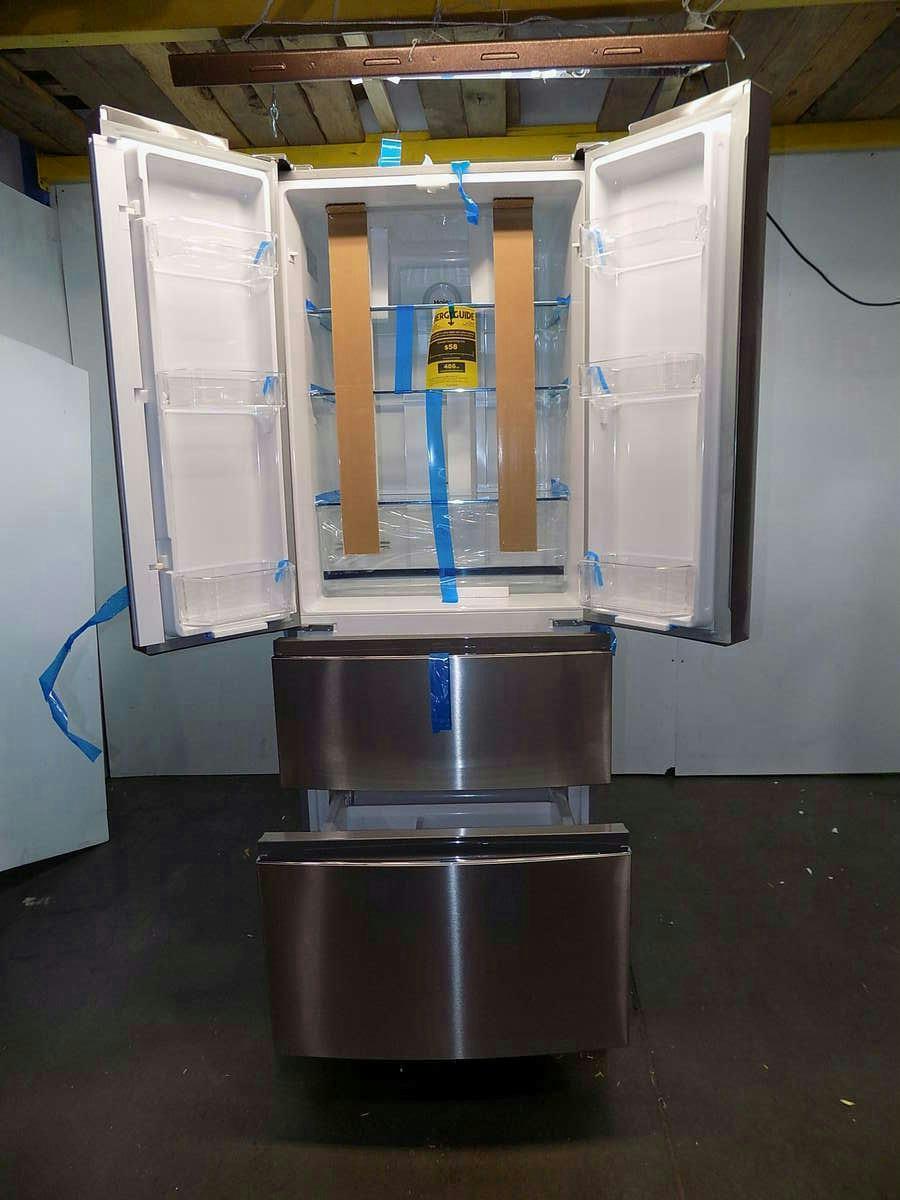 haier french door 14 9 cu ft refrigerator hrf15n3ags ebay. Black Bedroom Furniture Sets. Home Design Ideas